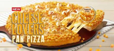 Intensely Cheesy Pizzas - The Pizza Hut Singapore Cheese Lover's Pan Pizza Has Seven Kinds of Cheese
