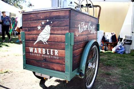 Nitro Coffee Carts - Warbler Coffee Roasting's Mobile Drinks Cart Sells Nitro Beverages