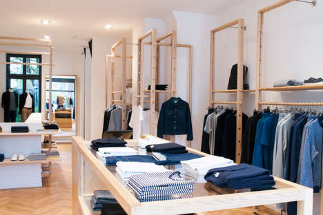 Minimalist German Boutiques - The Sunspel Store in Berlin Features Carefully Curated Displays