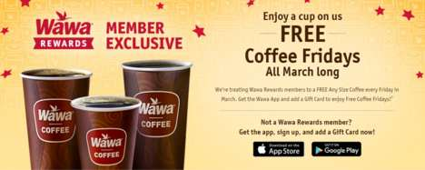 Friday-Celebrating Reward Programs - Wawa is Running a Free Coffee Fridays Promotion Through Its App