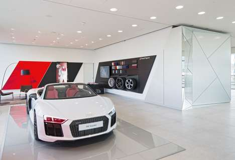 Creativity-Focused Car Showrooms - The myAudi Sphere Showroom Celebrates the Brand's Design Process