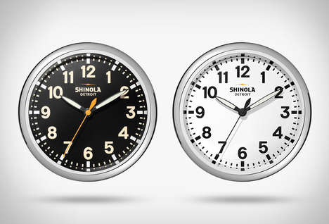 American Watch Brand Clocks - The Shinola Wall Clocks Draw Inspiration from the Wristwatches