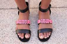 Interchangeable Jewelry Sandals - The 'CLOS' Magnetic Sandals Allow Accessories to be Swapped