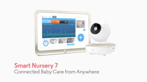 Mobile Nursery Monitors - Motorola's 'Smart Nursery 7' is a Portable Wi-Fi Video Baby Monitor