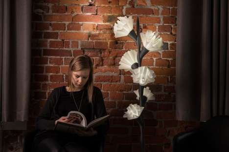 3D-Printed Flower Lamps - These LED Lights are Ornately Designed with a Natural Aesthetic