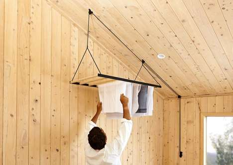 Economical Indoor Clothes Lines - The 'Hanging Drying Rack' by George and Willy is Eco-Friendly