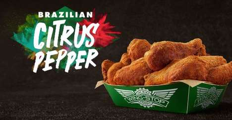 Exotic Twist Wing Flavors - The Wingstop Brazilian Citrus Pepper Wings Have a Zesty Kick