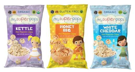 Wholegrain Kid-Friendly Snacks - The MySuperPops Mini Popcorn Chips Support Local Food Banks