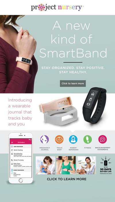 Smart Parenting Wristbands - Project Nursery's Parent + Baby SmartBand Monitors Adults and Infants
