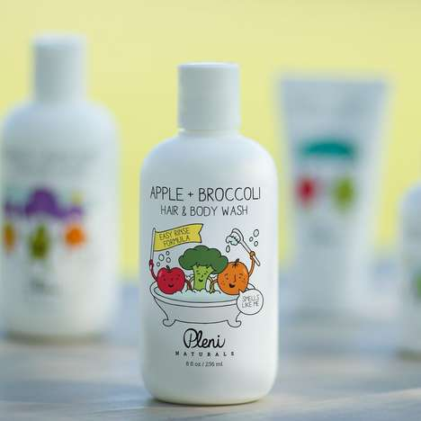 Broccoli-Infused Baby Washes - Pleni Naturals' Baby Body Wash Features Broccoli, Olives and Apples