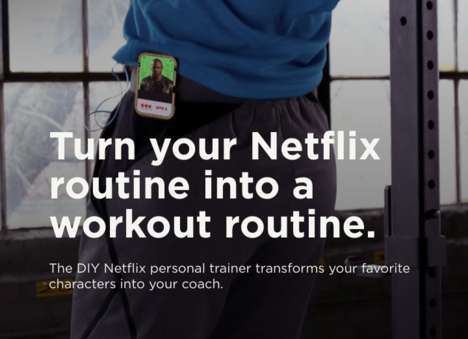 TV-Themed Training Devices - The 'Netflix Personal Trainer' is a DIY Project for Couch Potatoes