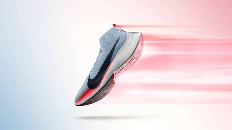 "Aerodynamic Marathon Sneakers - Nike's Zoom Vaporfly Elite is Touted as Its ""Fastest Shoe Ever"""