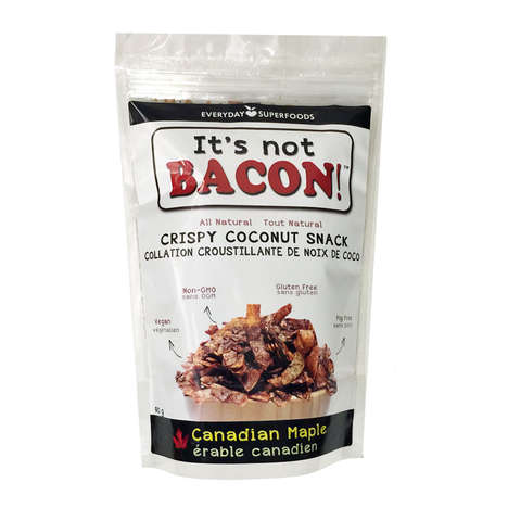 Coconut Bacon Snacks - This Everyday Superfoods Snack Imitates the Taste of Real Bacon with Coconut