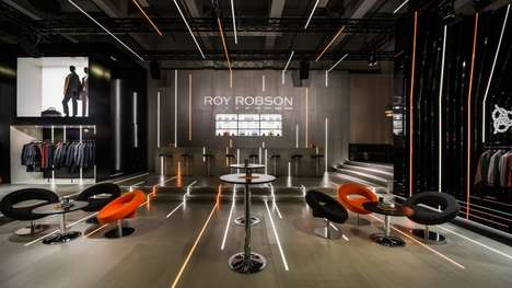 Socialization-Encouraging Clothing Stores - The Roy Robson Clothing Store in Hamburg Features a Bar