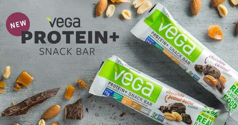 Nutty Vegan Protein Bars - The New Vega Protein+ Snack Bars are Gluten-Free and Vegan-Friendly
