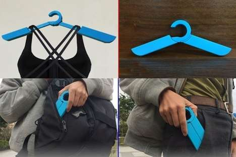 Compact Collapsible Hangers - The 'Amazing Hanger' is a Folding Hanger that's Highly Portable