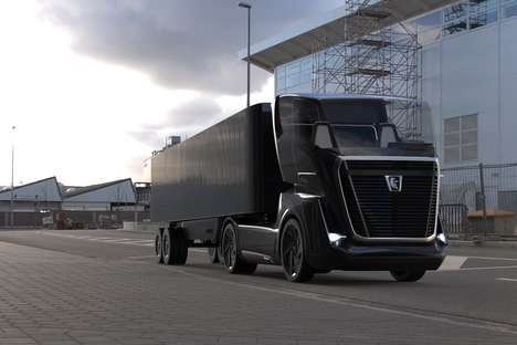 Aerodynamic Shipping Vehicles - The 'KAMAZ Vision' Semi-Trailer Truck Focuses on Efficiency