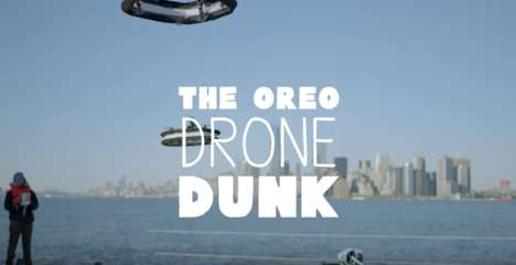 Cookie-Dropping Drones - This Stunt from OREO Takes Cookie Dunking to New Heights