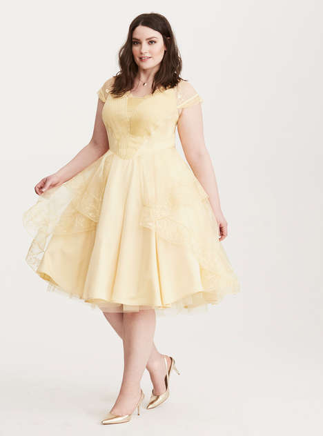 Plus-Size Disney Fashions - This 'Beauty and the Beast' Fashion Clothing Collection is Enchanting