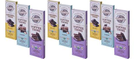 Low-Glycemic Candy Treats - The Blissfully Better Caramel and Toffee Thins Feature Coconut Nectar