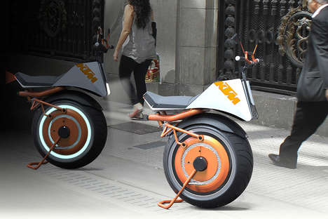 Gyroscopic Electric Unicycles - The KTM Unicycle Stays Balanced for Compact Urban Transportation