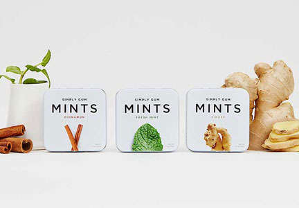 Natural Breath Mints - Simply Gum is Unveiling a New Collection of Natural Mints