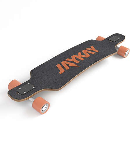 Electric Longboard Kits - 'JayKay' Introduces an Electric Longboard Truck with an Integrated Engine