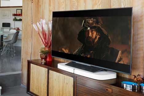 Consistent Volume TV Speakers - The Sonos Playbase TV Speaker Supports the Weight of Displays