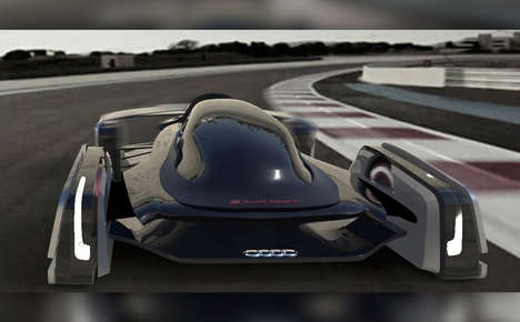 Conceptual Consumer Race Cars - The Audi Formula Track 2036 Imagines Race Car Driving as a Hobby