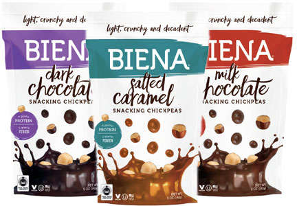 Chocolate Chickpea Snacks - Biena Foods' Chocolate-Covered Treat Offers a Smart Way to Indulge