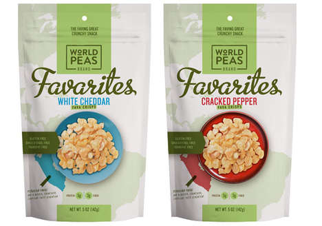 Seasoned Bean Snacks - World Peas' 'Favarites Fava Crisps' are Made with a Base of Fava Beans