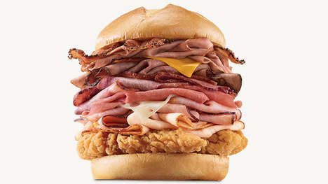 Fish Filet-Topped Meat Sandwiches - The Arby's Meat Mountain Can Now Come with a Crispy Fish Filet