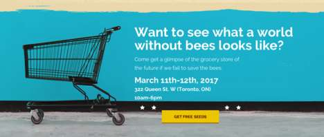 Futuristic Supermarket Pop-Ups - Honey Nut Cheerios is Hosting a Pop-Up Grocery Store in Toronto