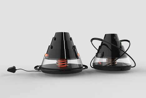 Divided Induction Camping Heaters - The 'LAVA' Heater Can be Used as One or Multiple Units