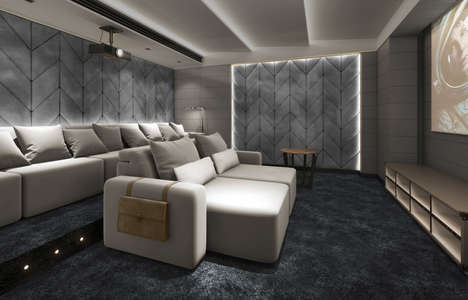 Plush Cinema Seating - Coleccion Alexandra Offers Home Cinema Seating With a Luxe Flair
