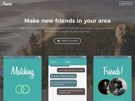 Judgement-Free Friendship Apps - The 'Amicus' App Aids Users to Naturally Develop Friendships