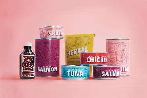 Adventurous Pet Food Branding - The Venture Cat Food Brand Packaging Focuses on a Storyline
