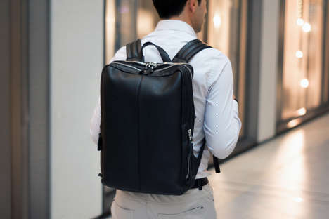 Minimalist Leather Backpacks - Otenteko's Backpacks Celebrate Design, Quality and Function