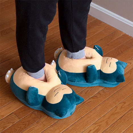 Audible Anime Footwear - Snorlax Snoring Slippers are Ideal for Midnight 'Pokemon Go' Playthroughs
