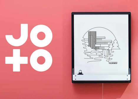 Connected Drawing Displays - The 'Joto' Connected Display Draws Images from a Digital Source
