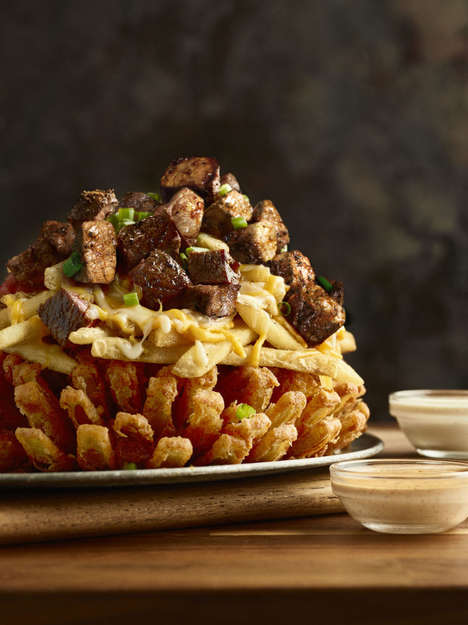 Towering Steak-Topped Appetizers - Outback Steakhouse's 3-Point Bloomin' Onion Marks March Madness