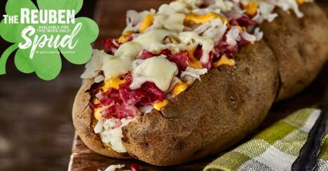 Beefy Baked Potatoes - McAlister's is Serving Up a Reuben Spud for St. Patrick's Day