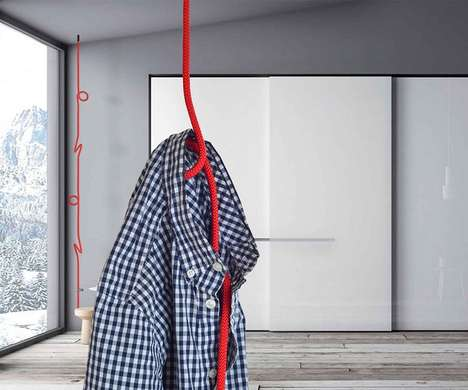 Malleable Rope Clothing Racks - The 'Loop Rope' Clothes Hanger Rack Hangs from the Ceiling