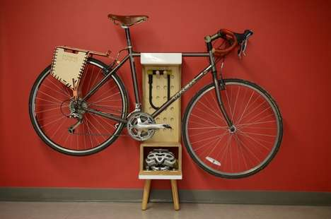 Customizable Bike Shelves - This Free Standing Bicycle Shelf Stores a Bike, Accessories and More