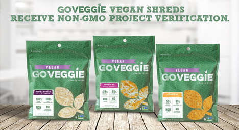 Non-GMO Shredded Vegan Cheeses - The GO VEGGIE Shredded Cheese Alternatives are Flavorful