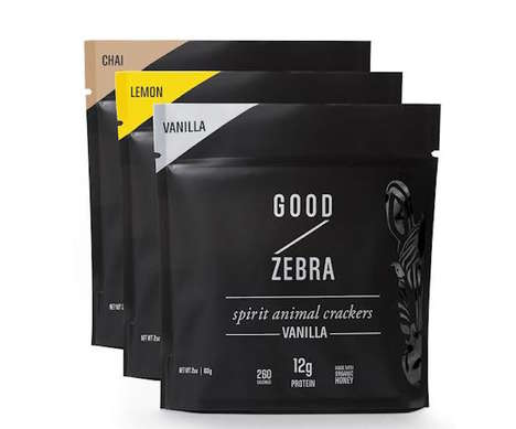Sophisticated Animal Crackers - Good Zebra Makes 'Spirit Animal Crackers' with No Added Sugars