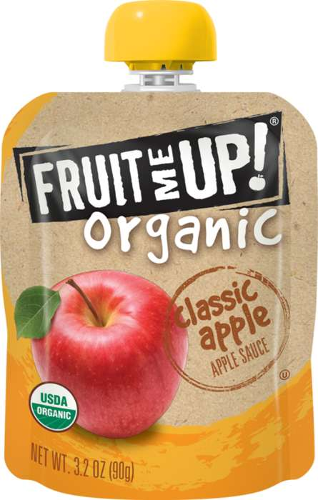 Portable Applesauce Pouches - The New Fruit Me Up! Organic Range Features Four Types of Applesauce