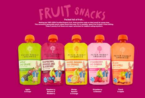 Storybook Character Fruit Snacks - Peter Rabbit Organics' Fruit Snacks are Organic and Additive-Free