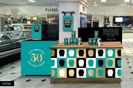 Canned Bean Pop-Ups - This In-Store Station Celebrates Half a Century of Heinz Beanz' Iconic Slogan