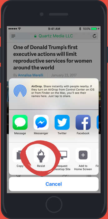 Crowdsourced Activism Apps - The Resist App Attaches Activist Actions to Distressing News Stories